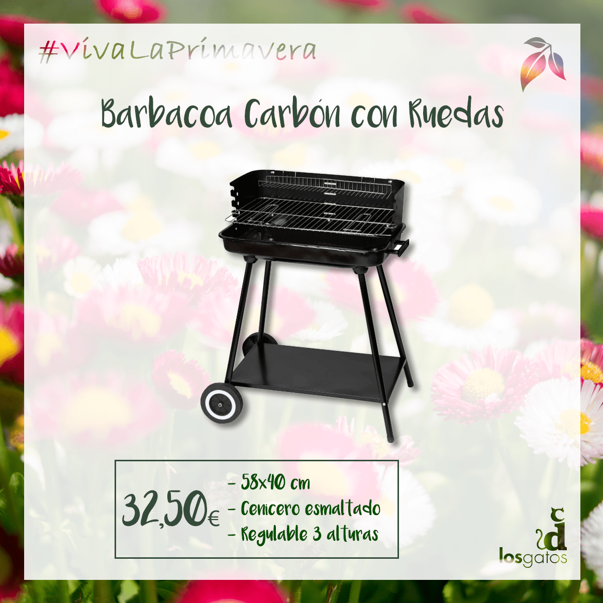 Barbacoa carbon ruedas
